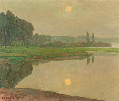 Leon De Smet. View of the River Leie
