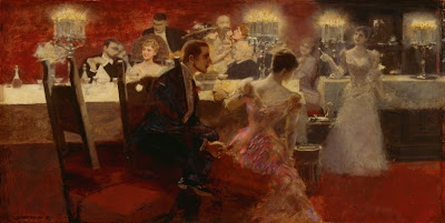 Albert von Keller. Dinner Party