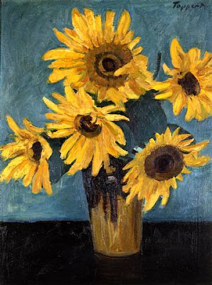 Georg Tappert. Sunflowers