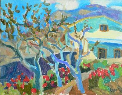 Russian Artist Ekaterina Reutova. Trees in Bloom