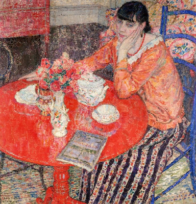 Painting by Leon De Smet. The Red Table