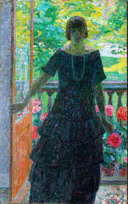 Leon De Smet's Paintings. Woman on the Terrace (Mrs. De Smet)