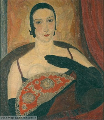Leon De Smet's Painting. Lady with a Fan