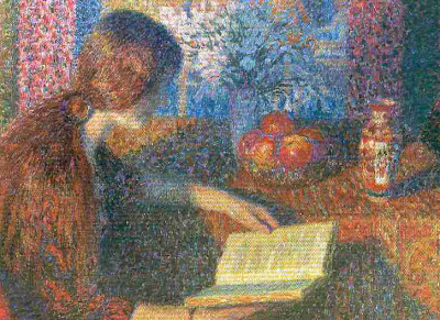 Leon De Smet's Painting. Reading Girl