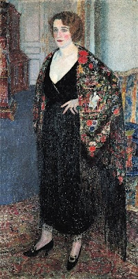 Leon De Smet's Painting. Woman with Shawl