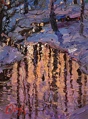 Painting by Russin Artist Oleg Trofimov. Reflection