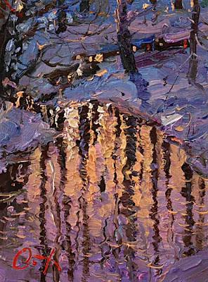Painting by Russin Artist Oleg Trofimov. Reflection