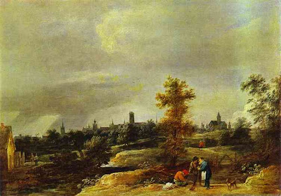 David Teniers the Younger. Landscape in the suburbs of Brussels