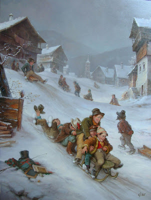 Hungarian Artist Gabor Toth. Winter Paintings