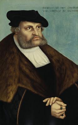 Lukas the Elder Cranach. Portrait of the Elector Friedrich III the Wise of Saxony