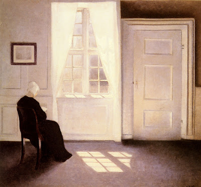 interiors painting,Modern art,oil painting,Symbolism in art,Women in art,Vilhelm Hammershoi,Danish artists