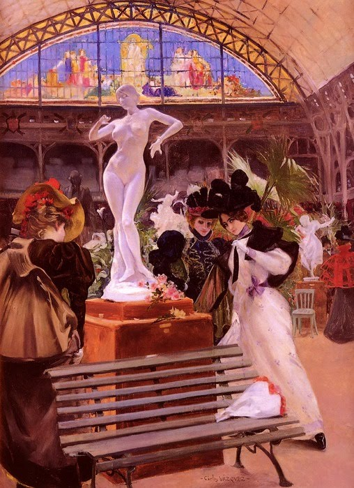 Cléo de Mérode in the Salon by Carlos Vasquez y Obeda