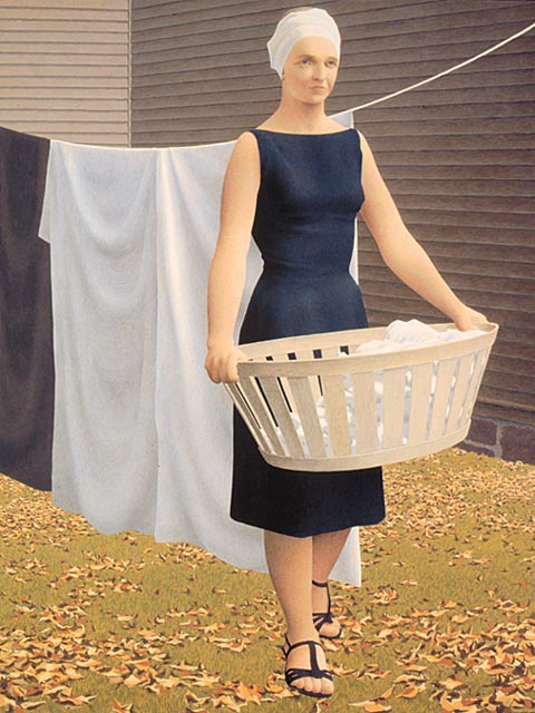 Ca s'est passé en août ! Woman+at+Clothes-line+++1956-1957