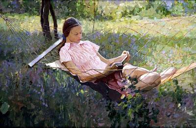 Hammock in  Painting Petr Bezrukov