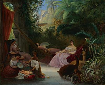 Hammock in  Painting Johann Moritz Rugendas