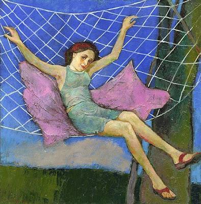 Hammock in  Painting