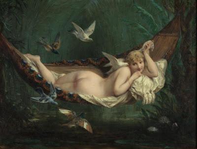 Hammock in  Painting Henri Pierre Picou