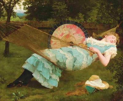 Hammock in  Painting Valentine Cameron Prinsep
