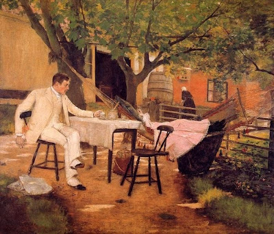 Hammock in  Painting William Merritt Chase