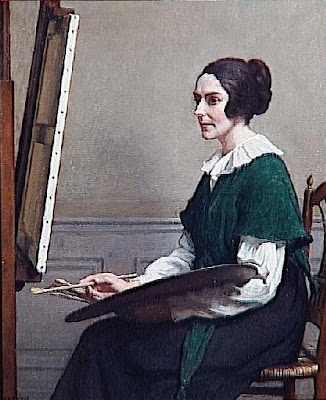 Portrait Painting by French Impressionist Artist Rene Xavier Prinet