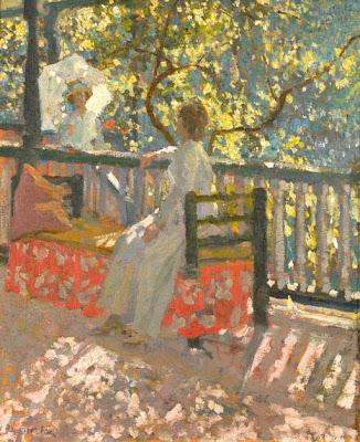 Genre Painting by Emanuel Phillips Fox Australian Impressionist Artist