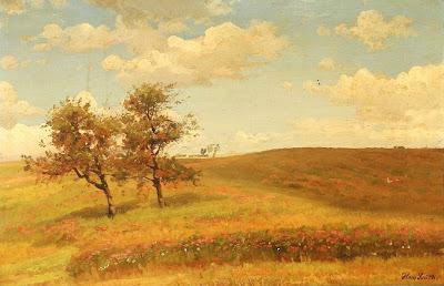 Scandinavian Summer Landscpe Painting Hans Smidth