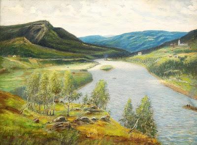 Scandinavian Summer Landscpe Painting Otto Hesselbom