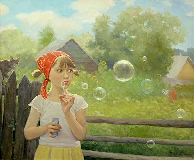 Blowing Bubbles in Painting