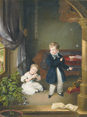 Blowing Bubbles in Painting Ezechiel Davidson Dutch Painter