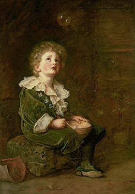Blowing Bubbles in Painting John Everett Millais