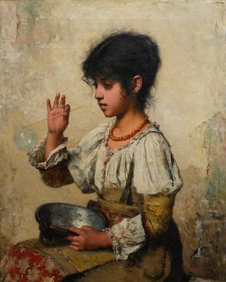 Blowing Bubbles in Painting Alexei Harlamoff
