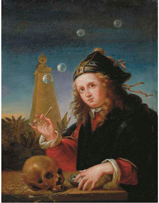 Bubble Painting in Vanitas. Homo Bulla