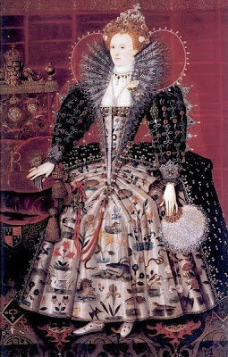 Fan in Painting Queen Elizabeth I of England