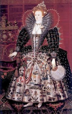 Fan in Painting Queen Elizabeth I of England