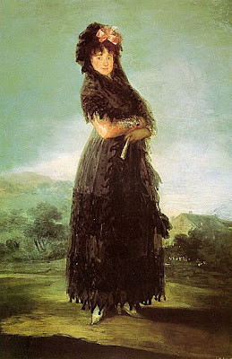 Fan in Painting Portrait Of Mariana Waldstein Francisco De Goya y Lucientes