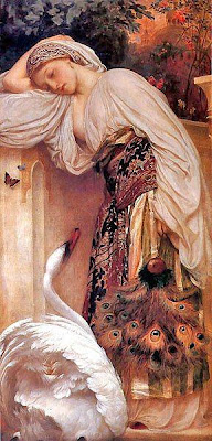 Fan in Painting Frederick Leighton Lord Odalisque
