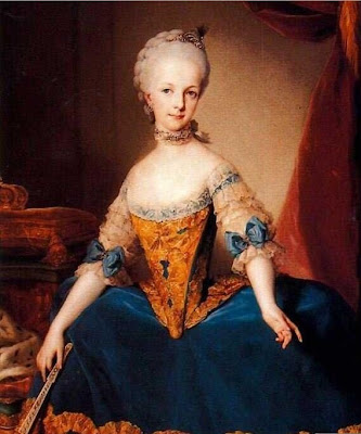 Fan in Painting Archduchess Maria Josefa of Austria