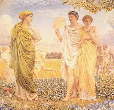 Fan in Painting Albert Joseph Moore. The loves of the winds and the seasonsid=