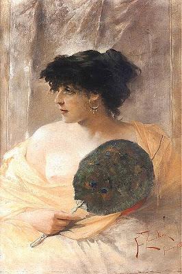 Fan in Painting Franciszek Zmurko
