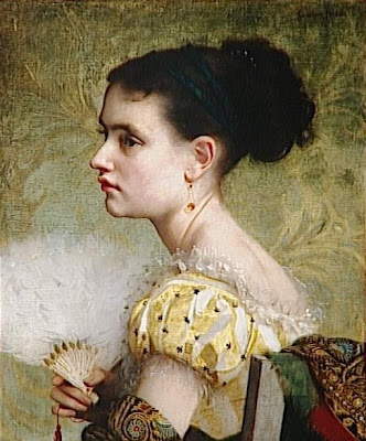 Fan in Painting Jacquet Gustave-Jean