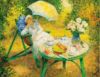 Garden Paintings by Jos Pauwels Belgian Artist