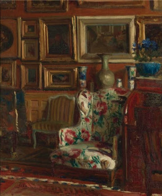 Interior Painting by French Artist Jacques Emile Blanche