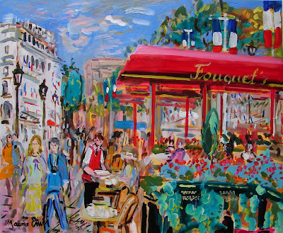 Paris Landscape Paintings by French Artist Maurice Empi