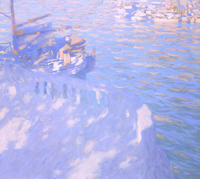 Seaside Oil Painting by Russian Artist Bato Dugarzhapov