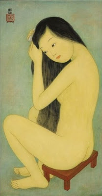 Beautiful Women in Painting by Vietnamese Artist Mai Trung Thu