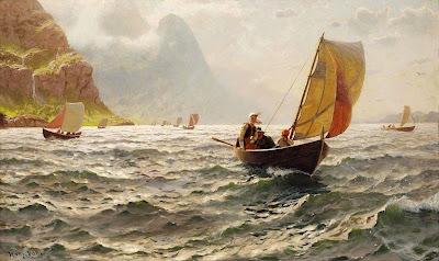 Genre Paintings by Hans Dahl Norwegian Artist