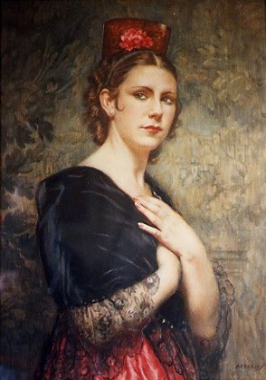 Women in Painting by British Artist George Owen Wynne Apperley