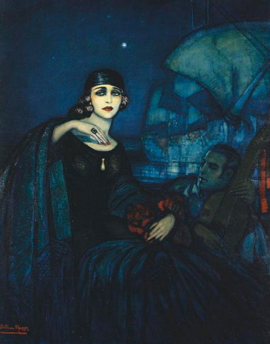 Art Deco Painting by Spanish Artist Federico Beltrán Masses