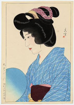 Yamakawa Shuho Japanese Ukiyo-e Prints Ladies with Fan