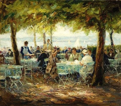 Painting by German Impressionist Otto Pippel